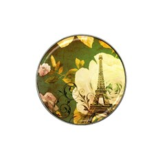 Floral Eiffel Tower Vintage French Paris Golf Ball Marker 4 Pack (for Hat Clip)