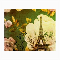Floral Eiffel Tower Vintage French Paris Glasses Cloth (Small)