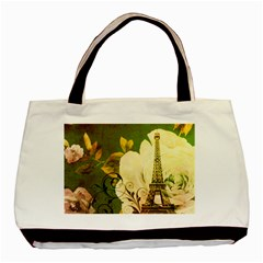 Floral Eiffel Tower Vintage French Paris Classic Tote Bag