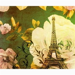 Floral Eiffel Tower Vintage French Paris Canvas 20  X 24  (unframed)