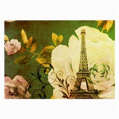 Floral Eiffel Tower Vintage French Paris Glasses Cloth (large, Two Sided)
