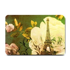 Floral Eiffel Tower Vintage French Paris Small Door Mat