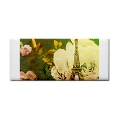 Floral Eiffel Tower Vintage French Paris Hand Towel