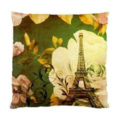 Floral Eiffel Tower Vintage French Paris Cushion Case (two Sided)