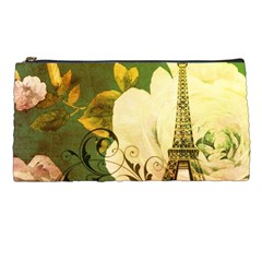 Floral Eiffel Tower Vintage French Paris Pencil Case