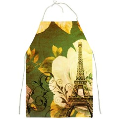 Floral Eiffel Tower Vintage French Paris Apron