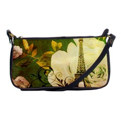 Floral Eiffel Tower Vintage French Paris Evening Bag