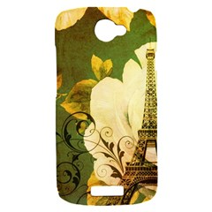 Floral Eiffel Tower Vintage French Paris HTC One S Hardshell Case