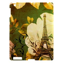Floral Eiffel Tower Vintage French Paris Apple Ipad 3/4 Hardshell Case