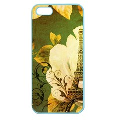 Floral Eiffel Tower Vintage French Paris Apple Seamless Iphone 5 Case (color)