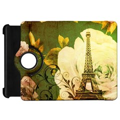 Floral Eiffel Tower Vintage French Paris Kindle Fire Hd 7  Flip 360 Case