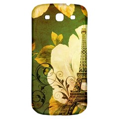 Floral Eiffel Tower Vintage French Paris Samsung Galaxy S3 S Iii Classic Hardshell Back Case