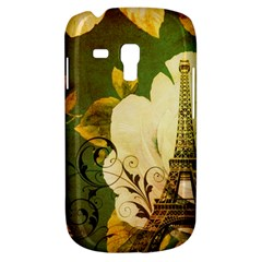 Floral Eiffel Tower Vintage French Paris Samsung Galaxy S3 MINI I8190 Hardshell Case