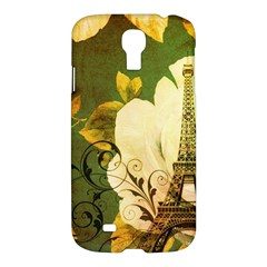 Floral Eiffel Tower Vintage French Paris Samsung Galaxy S4 I9500/i9505 Hardshell Case