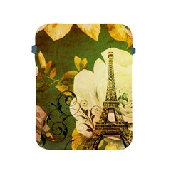 Floral Eiffel Tower Vintage French Paris Apple iPad 2/3/4 Protective Soft Case