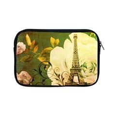 Floral Eiffel Tower Vintage French Paris Apple Ipad Mini Zipper Case