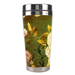 Floral Eiffel Tower Vintage French Paris Stainless Steel Travel Tumbler