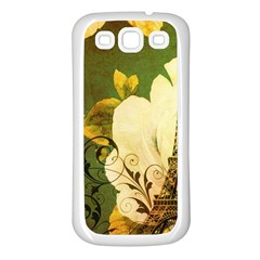 Floral Eiffel Tower Vintage French Paris Samsung Galaxy S3 Back Case (White)
