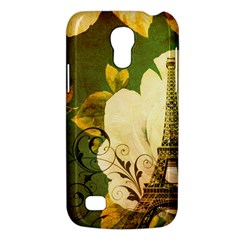 Floral Eiffel Tower Vintage French Paris Samsung Galaxy S4 Mini Hardshell Case