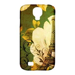 Floral Eiffel Tower Vintage French Paris Samsung Galaxy S4 Classic Hardshell Case (pc+silicone)
