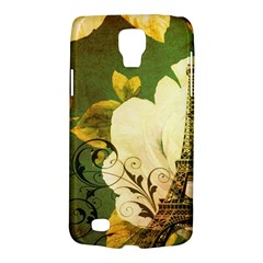 Floral Eiffel Tower Vintage French Paris Samsung Galaxy S4 Active (I9295) Hardshell Case