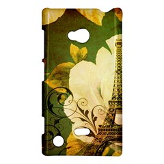Floral Eiffel Tower Vintage French Paris Nokia Lumia 720 Hardshell Case