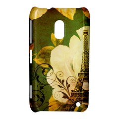 Floral Eiffel Tower Vintage French Paris Nokia Lumia 620 Hardshell Case
