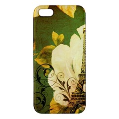 Floral Eiffel Tower Vintage French Paris Iphone 5s Premium Hardshell Case