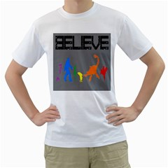 WE RE NOT ALONE! Mens  T-shirt (White)
