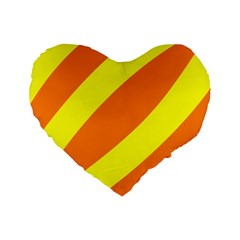 Oranges And Lemons 16  Premium Heart Shape Cushion