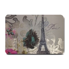 Floral Vintage Paris Eiffel Tower Art Small Door Mat