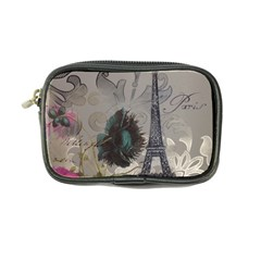 Floral Vintage Paris Eiffel Tower Art Coin Purse