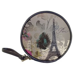 Floral Vintage Paris Eiffel Tower Art CD Wallet