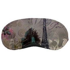 Floral Vintage Paris Eiffel Tower Art Sleeping Mask