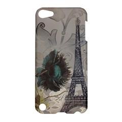 Floral Vintage Paris Eiffel Tower Art Apple iPod Touch 5 Hardshell Case