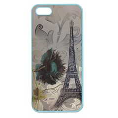 Floral Vintage Paris Eiffel Tower Art Apple Seamless iPhone 5 Case (Color)