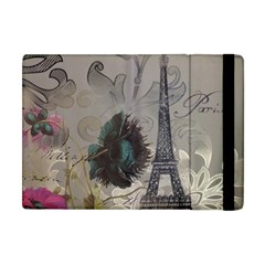 Floral Vintage Paris Eiffel Tower Art Apple Ipad Mini Flip Case