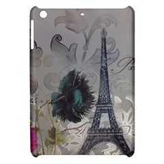 Floral Vintage Paris Eiffel Tower Art Apple iPad Mini Hardshell Case