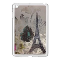 Floral Vintage Paris Eiffel Tower Art Apple Ipad Mini Case (white)