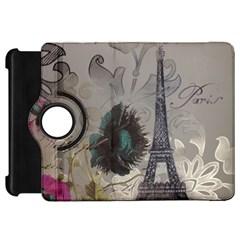Floral Vintage Paris Eiffel Tower Art Kindle Fire HD 7  Flip 360 Case