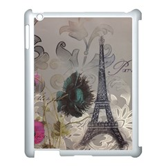 Floral Vintage Paris Eiffel Tower Art Apple Ipad 3/4 Case (white)