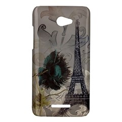 Floral Vintage Paris Eiffel Tower Art HTC X920E(Butterfly) Case