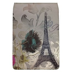 Floral Vintage Paris Eiffel Tower Art Removable Flap Cover (Large)