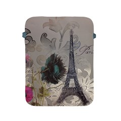 Floral Vintage Paris Eiffel Tower Art Apple iPad 2/3/4 Protective Soft Case