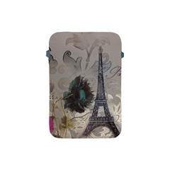 Floral Vintage Paris Eiffel Tower Art Apple Ipad Mini Protective Soft Case