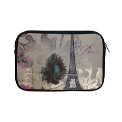 Floral Vintage Paris Eiffel Tower Art Apple iPad Mini Zipper Case