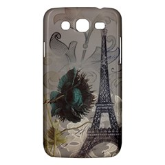 Floral Vintage Paris Eiffel Tower Art Samsung Galaxy Mega 5.8 I9152 Hardshell Case