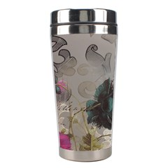 Floral Vintage Paris Eiffel Tower Art Stainless Steel Travel Tumbler