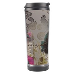 Floral Vintage Paris Eiffel Tower Art Travel Tumbler