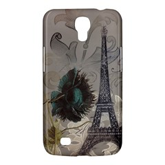 Floral Vintage Paris Eiffel Tower Art Samsung Galaxy Mega 6.3  I9200